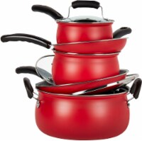 Basic Essentials® Cookware Set - Matte Red