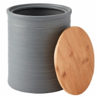 Tabletops Unlimited Large Textured Canister - Gray