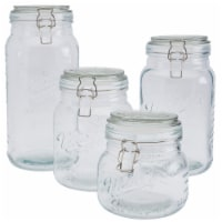 Tabletops Unlimted Mason Clamp Jar Boxed Set - 4 pc