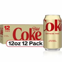 Diet Coke Caffeine Free Cola Soda 12 Cans