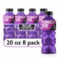 Powerade Grape Electrolyte Enhanced Sports Drink 8 Bottles