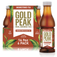 Gold Peak Unsweetened Black Tea Beverage 6 Bottles