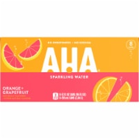 AHA Orange + Grapefruit Sparkling Water 8 Count