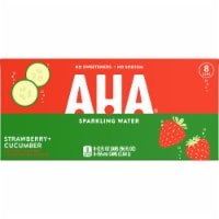 AHA Strawberry + Cucumber Sparkling Water 8 Cans