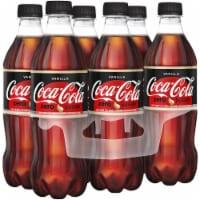Coca-Cola Vanilla Zero Sugar Bottles - 6 Count