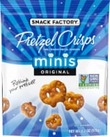 Snack Factory Pretzel Crisps Original Mini Crunchy Pretzel Crackers