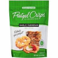 Pretzel Crisps Garlic Parmesan Deli Style Pretzel Crackers 7.2 Oz Bag (Pack of 12) - 12-7.2 OUNCE
