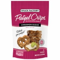 Snack Factory Pretzel Crisps Cinnamon Sugar Thin Crunchy Pretzel Crackers
