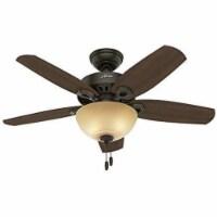 """Hunter Fan Company 52218 Builder 42"""" Indoor Home Ceiling Fan w/Light, New Bronze"""