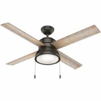 Hunter Loki 52 In. Noble Bronze Ceiling Fan with Light Kit 54152 - 1