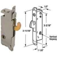 Prime-Line Sliding Patio Door Steel Vertical Mortise Patio Door Lock - 1 ct