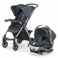 Chicco Mini Bravo Plus Baby Stroller and Car Seat Travel System Combo, Midnight - 1 Unit