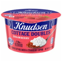 Knudsen Cottage Doubles Strawberry Topping & Low Fat Cottage Cheese Cup