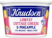 Knudsen Small Curd Low Fat Cottage Cheese & Pineapple