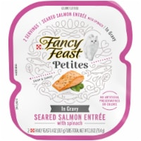 Fancy Feast Petites Seared Salmon with Spinach In Gravy Gourmet Wet Cat Food
