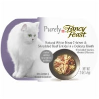 Purina Fancy Feast Purely Natural White Meat Chicken & Beef Entree Wet Cat Food