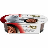 Fancy Feast Purely Natural Flaked Skipjack Tuna Entree Grain Free Broth Wet Cat Food