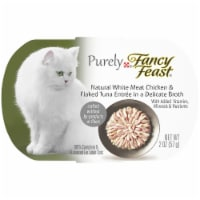 Fancy Feast Purely Natural White Meat Chicken & Flaked Tuna Grain Free Wet Cat Food