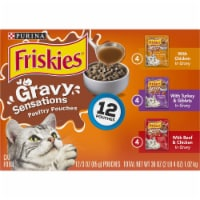 Friskies Gravy Sensations Poultry Pouches Wet Cat Food Variety Pack