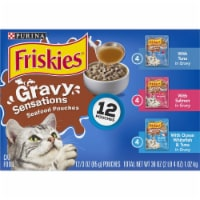 Friskies Gravy Sensations Seafood Favorites Pouches Wet Cat Food Variety Pack
