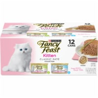 Fancy Feast Classic Pate Turkey & Whitefish Grain Free Wet Cat & Kitten Food Variety Pack