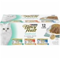 Fancy Feast Seafood Classic Pate Wet Cat Food Variety Pack