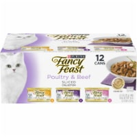 Fancy Feast Poultry & Beef Sliced Collection Gravy Wet Cat Food Variety Pack