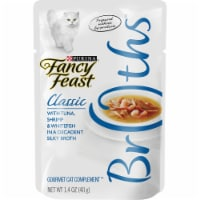 Fancy Feast Classic Broths with Tuna Shrimp & Whitefish Wet Cat Food Pouch