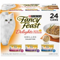 Fancy Feast Delights with Cheddar Grilled Collecton Wet Cat Food Variety Pack