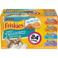 Friskies Tasty Treasures with Cheese Wet Cat Food Variety Pack