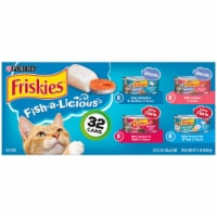 Friskies® Fish-A-Licious Prime Filets & Shreds Wet Cat Food Variety Pack - 32 ct / 5.5 oz