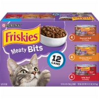 Friskies Meaty Bits Wet Cat Food Variety Pack
