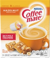 Coffee-mate Hazelnut Flavored Single Serve Creamers 24 Count