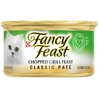 Purina Fancy Feast Classic Pate Chopped Grill Feast Wet Cat Food Can