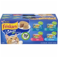 Friskies Pate Seafood Favorites Wet Cat Food Variety Pack