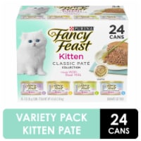 Fancy Feast Classic Pate Collection Wet Kitten Food Variety Pack