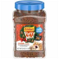 Friskies Party Mix Chicken Liver & Turkey Flavors Original Crunch Cat Treats