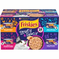 Friskies Stuf'd & Sauc'd Wet Cat Food Variety Pack 24 Count