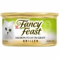 Purina Fancy Feast Grilled Salmon Feast in Gravy Wet Cat Food Can
