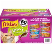 Purina Friskies Gravy Wet Cat Food, Variety Pack, 5.5 Ounce (60 Count) - 1 unit