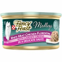 Purina Fancy Feast Medleys White Meat Chicken Florentine Gravy Wet Cat Food Can