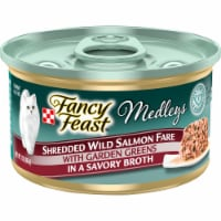Fancy Feast Medleys Shredded Wild Salmon Fare Wet Cat Food