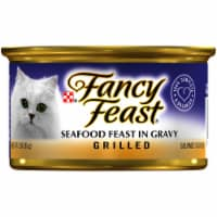 Purina Fancy Feast Grilled Seafood Feast in Gravy Wet Cat Food Can