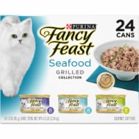 Purina Fancy Feast Seafood Grilled Collection Wet Cat Food Variety Pack