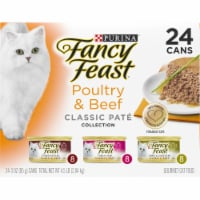 Fancy Feast Poultry & Beef Classic Pate Collection Wet Cat Food Variety Pack