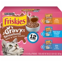 Friskies Gravy Sensations Surfin' & Turfin' Pouches Wet Cat Food Variety Pack