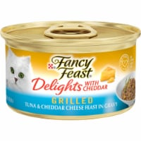 Fancy Feast Delights Grilled Tuna & Cheddar Cheese Feast Wet Cat Food