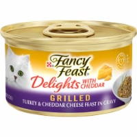 Fancy Feast Delights with Cheddar Grilled Turkey & Cheddar Cheese Feast in Gravy Wet Cat Food