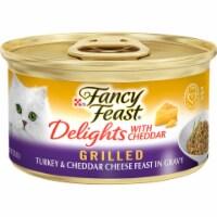 Fancy Feast Delights Grilled Turkey & Cheddar Cheese Feast in Gravy Wet Cat Food
