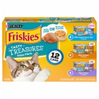 Friskies Tasty Treasures Wet Cat Food Variety Pack